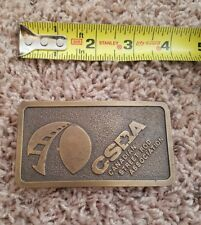 CSRA Canadian Street Rod Association Vintage Belt Buckle Legendary 1976 Watson