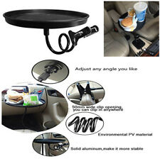 Round Travel Foot Drink Cup Coffee Table Stand Car Food Tray Mount Holder Stand