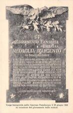 C714) NOVARA 54 REGGIMENTO FANTERIA UMBRIA, LAPIDE ALLA CASERMA PASSALACQUA. VG.