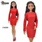ELENPRIV FA004 Red jersey mini dress for Barbie Pivotal MTM and similar dolls