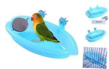 Qbleev Bird Baths Tub with MirrorFor Cage, Parrot Birdbath Shower Accessories, B