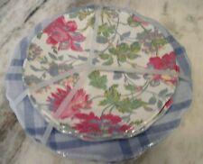 New listing 8 New April Cornell Melamine Plates Pink Blue Floral Dinner Salad