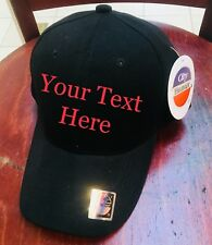 (1) Custom Embroidery Embroidered baseball HATS CAPS Logo or text