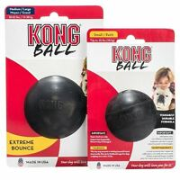 KONG EXTREME BALL DURABLE STRONG BOUNCY RUBBER DOG TOY- 2 SIZES