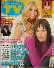 TV Sorrisi-'10-LORELLA CUCCARINI & ANNA OXA,Gabriel Garko,Stephen Dorff,Gelisio