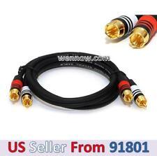 PREMIUM 2 RCA Plug / 2 RCA Plug M/M 22AWG Cable - 1.5ft