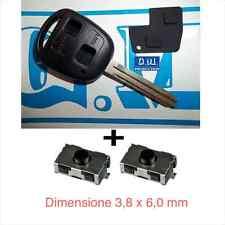 Chiave scocca guscio cover key TOYOTA lama 8 mm YARIS RAV4 RAV 4 tasti +2 switch
