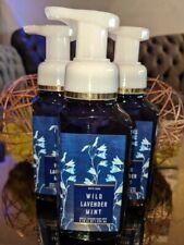 Bath & Body Works WILD LAVENDER MINT Gentle Foaming Hand Soap - 3 Pack