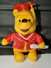 """Winnie The Pooh Bear Graduation Plush Toy New 12"""" Red Cap & Gown"""