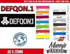 DEFQON 1 - 60 x 215mm - Aufkleber, Sticker, Decal, Autocollant Étiquette