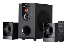 Bluetooth 2.1Ch Home Theater Surround Sound Speaker System FM Radio USBSD Remote
