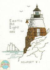 Cross Stitch Kit ~ Historic Lighthouse Castle Hill Light, RI #HD236 OOP SALE!