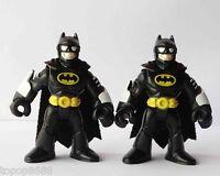 LOT 2 Imaginext DC Super Friends Batman Black Action Figure Fisher-Price Hero
