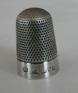 C. H. Charles Horner, Chester Sterling Silver Thimble Plain Band #84