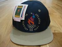 New with Tags Navy Blue Olympic Snapback Hat Logo 7 Cap 1996 Atlanta USA Vintage