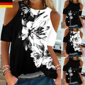Sexy Damen SchulterfreiOberteile Sommer FreizeitT-shirt Kurzarm Shirts Tunika
