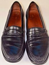 Allen Edmonds Pescara Men's Slip On Loafers Size 9.5 Black Casual Italy Outdoor