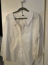 You Babes White Shirt Size Large White Button Down Dress Shirt