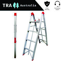 4 STEP COLLAPSIBLE PORTABLE LADDER PLATFORM BENCH STOOL TELESCOPIC