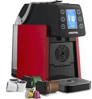 Gourmia GCM5100R One Touch Multi Capsule Coffee Machine, Nespresso, K-Cup, Red