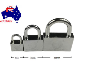 Heavy Duty Anti Rust Stainless Steel Padlock Security Anti Theft Lock with 3Keys