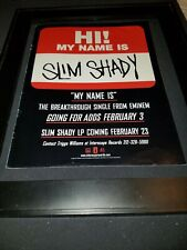 Eminem My Name Is Rare Original Radio Debut Promo Poster Ad Framed!