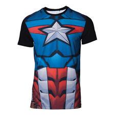 Marvel T-shirt Sublimated Captain America Men's Multicolor M