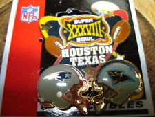 Super Bowl 38  Dueling Pin, Patriots, Panthers. Houston
