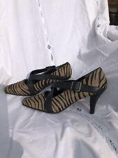 Womens Aerosoles 3 inch tiger stripe heels, Dyed cow fur. Size 9.5.FREE SHIPPING