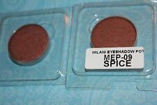 LOT OF 2  Milani Powder Eye Shadow ~POT~ SPICE  #09  REFILL
