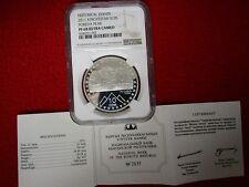 Kyrgyzstan 2011 Pobeda Peak NGC PF68 UC Silver 10 Som Super GEM Proof w/COA