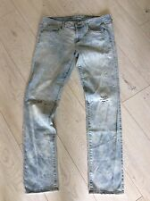 American Eagle Ladies Soft & Stretch Distressed  Skinny Jeans US12 L32 UK16 VGC!
