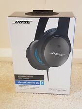 New Bose QuietComfort 25 Over the Ear Headphones - Black for Apple - Sealed