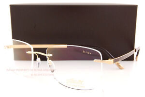 New Silhouette Eyeglass Frames Prestige 5480 DC 7520 Gold/Brown/23kt Gold Plated
