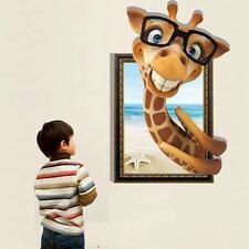 3D Giraffe Fashion Creative Personality Living Room Wall Stickers Home Decor