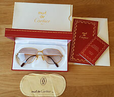 RARO USATO Must de Cartier Occhiali da sole 140 59 14 con scatola