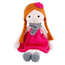 Imajo Adorable Sitting Crochet Doll Ava In Pink Dress  Suitable For All Ages