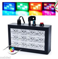 STROBO FARETTO 12 LED LUCE FARO RGB DMX LAMPADA STROBOSCOPICA LED ROOM STROBE