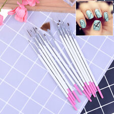 12Pcs Nail art decorations brush set tools DIY painting dotting pen nail tip HCP