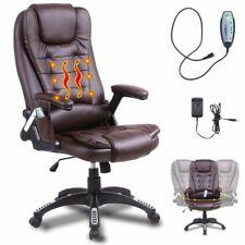 Heated Vibrating Massage Office Chair Executive Ergonomic Computer Desk Brown
