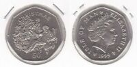 ISLE OF MAN 50 PENCE UNC COIN 1999 YEAR KM#1011 CHRISTMAS TREE DECORATION