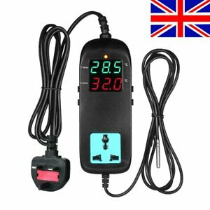 Electronic Thermostat Digital Breeding Temperature Controller w/ Socket UK Plug