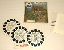 VIEWMASTER vintage SEA WORLD SAN DIEGO Mission Bay Park 3 reel set A192 COMPLETE