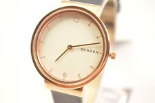 Skagen SKW2608 Ancher White Dial Dark Blue Leather Watch