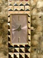 Vintage Retro Accurist Rectangle Dial Ladies Watch Elegant Bracelet - SR521SW