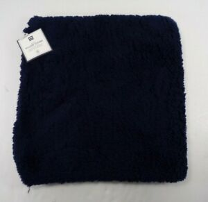 """Pottery Barn Cozy Pillow Cover 18x 18"""" Classic Navy #7913"""
