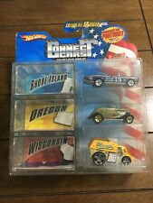 2008 HOT WHEELS CONNECT CARS 3 PACK, RHODE ISLAND, OREGON, & WISCONSIN
