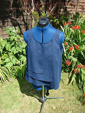 BNWT Jaeger size 12 (-14 ) navy sleeveless smart casual, stylish top/ blouse