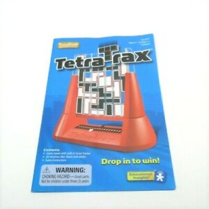 Tetra Trax Game Replacement Instructions Rule Sheet