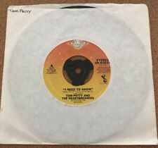 Tom Petty and the Heartbreakers - I Need To Know U.S.A Shelter Records 45 Vinyl